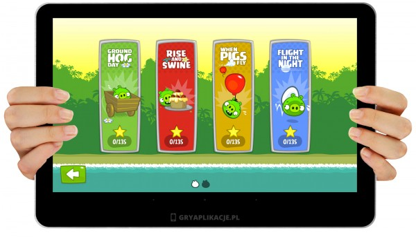 bad piggies screen