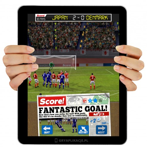 Score! World Goals screen