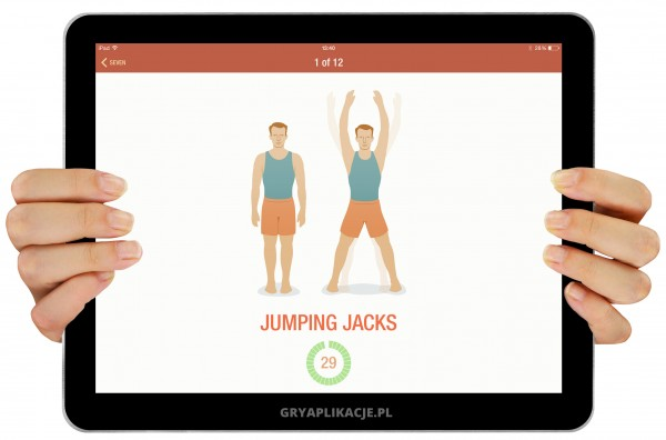 7 minute workout screen