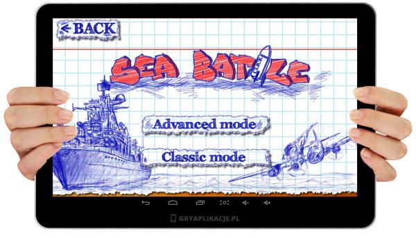 Sea battle screen