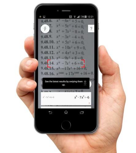 Photo Math - screen