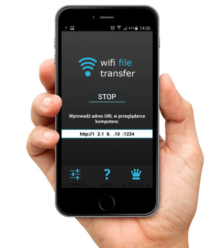 Wifi File transfer - screen