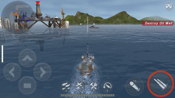 Warship Battle screen