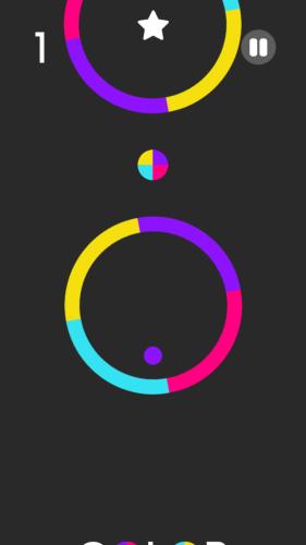 Wyjątkow denerwująca gra - color switch