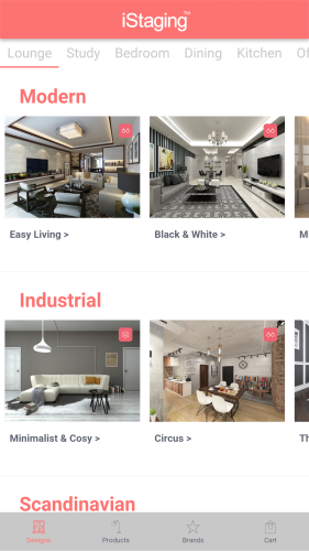 Aplikacja pomagająca w wystroju wnętrz - iStaging - Interior Design
