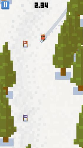 Gra sportowo zręcznościowa dla fanów zimowego slalomu - Skiing Yeti Mountain