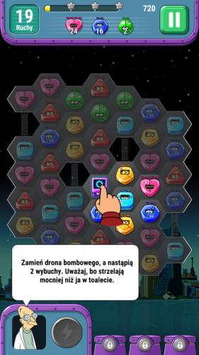 Futurama jako tło dla gry logicznej? Czemu nie! - Futurama: Game of Drones