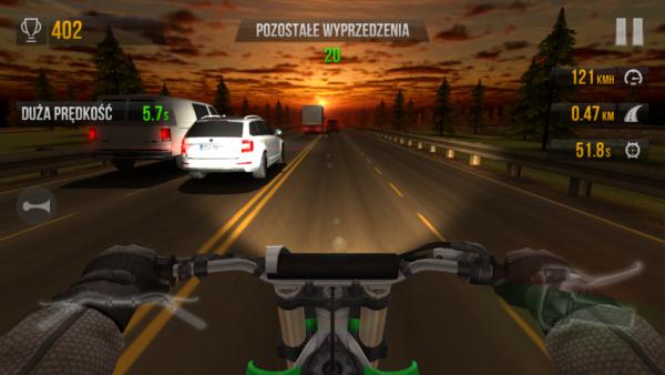 Zręcznościówka na motocyklu - Traffic Rider