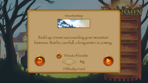 Screen z darmowej gry na telefon - Townsmen