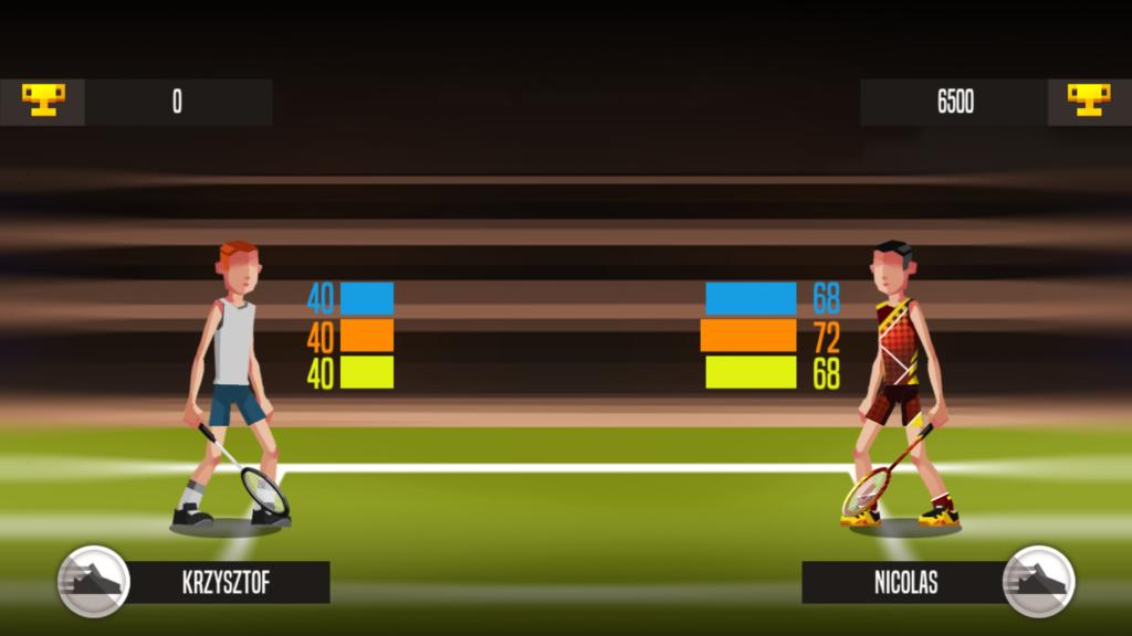 Badminton League ekran przed meczem