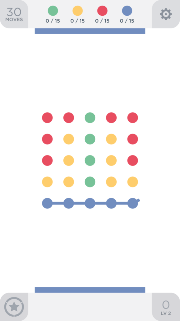 Two Dots rozwiązanie poziomu