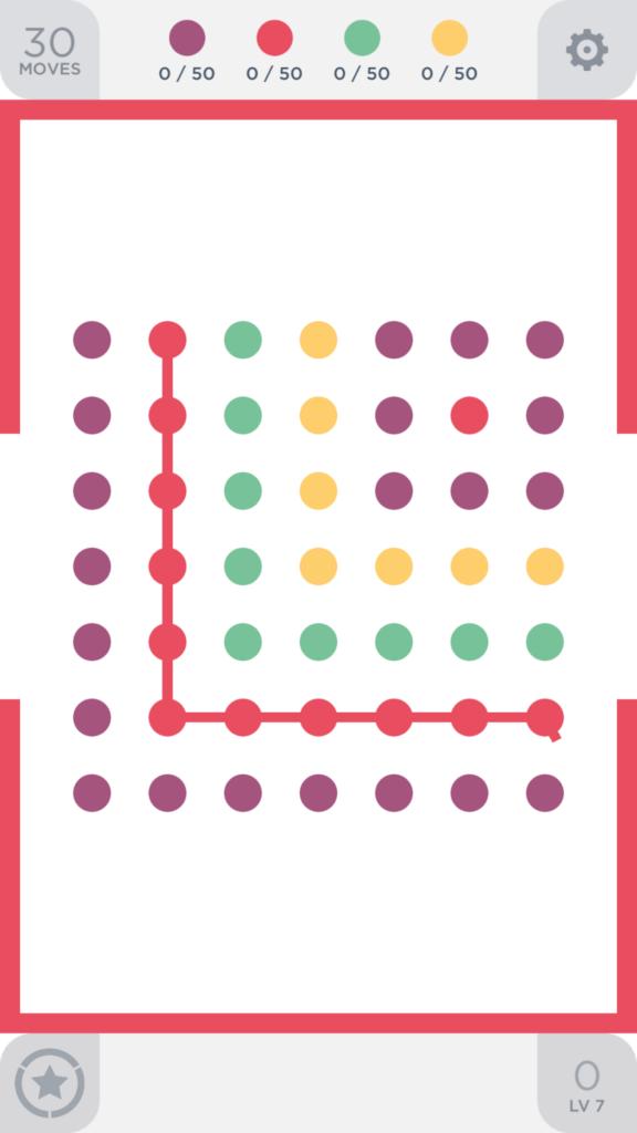 Two Dots skomplikowany poziom