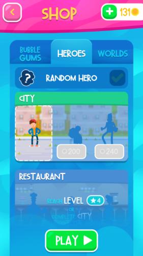 Bubblegum Hero wybór bohatera