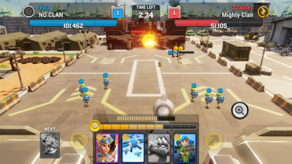 Mighty Battles zmiana amunicji