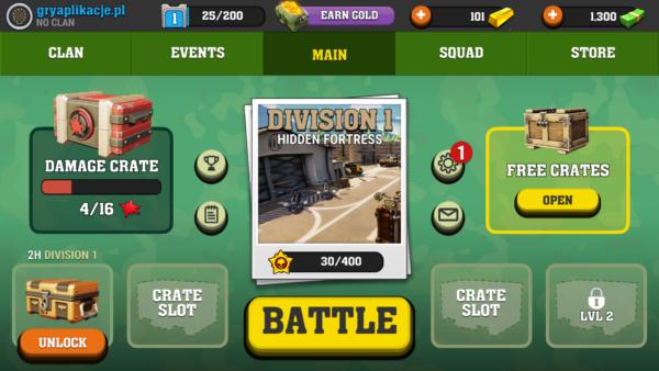 Mighty Battles ekran startowy
