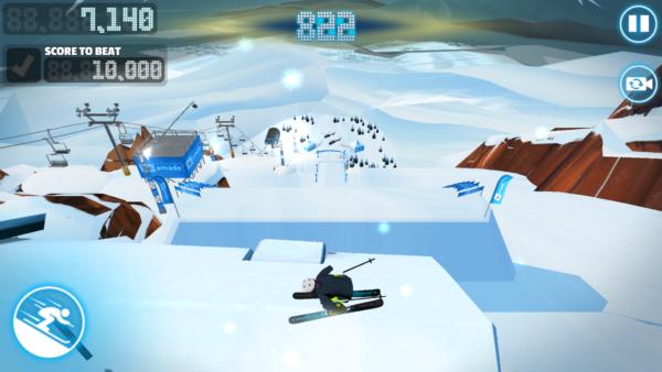 Red Bull Free Skiing spin w powietrzu