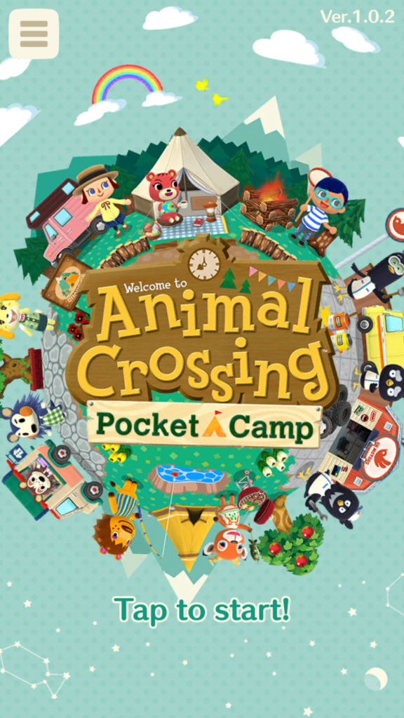Animal Crossing: Pocket Camp ekran startowy