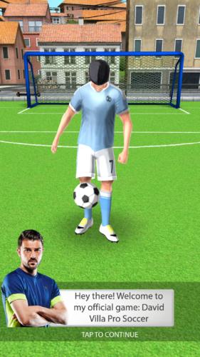 David Villa Pro Soccer powitanie Davida Villi