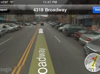 Aplikacja na Android- Street View pozwala na wirtualne zwiedzanie świata.