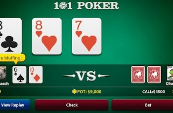 Zynga Poker, to rozgrywka na Androida i iPhone'a w wydaniu Taxas Hold`em.