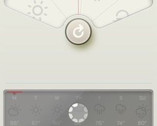 Aplikacja pogodowa WTHR na iOS