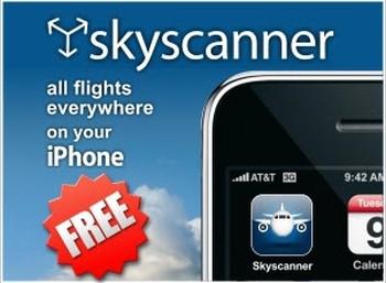 Ciekawa aplikacja do szukania najtańszych biletów lotniczych – Skyscanner na Iphone i Android