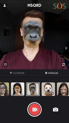 Aplikacja z filtrami na żywo - MSQRD