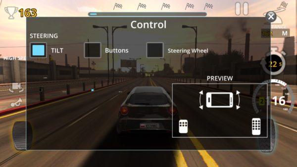 Traffic Tour wybór sterowania