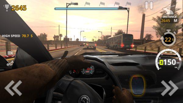Traffic Tour widok ze środka auta