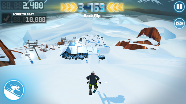 Red Bull Free Skiing lądowanie