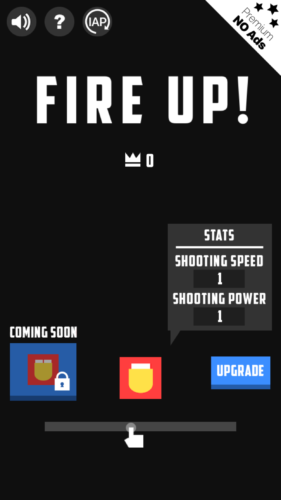 Fire Up! ekran początkowy